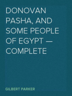 Donovan Pasha, and Some People of Egypt — Complete