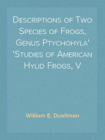 Descriptions of Two Species of Frogs, Genus Ptychohyla Studies of American Hylid Frogs, V