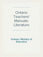 Ontario Teachers' Manuals