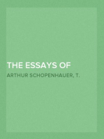 The Essays of Arthur Schopenhauer; The Art of Literature