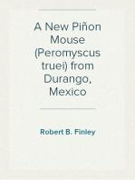 A New Piñon Mouse (Peromyscus truei) from Durango, Mexico