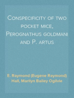 Conspecificity of two pocket mice, Perognathus goldmani and P. artus