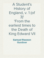 A Student's History of England, v. 1 (of 3) From the earliest times to the Death of King Edward VII