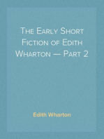 The Early Short Fiction of Edith Wharton — Part 2
