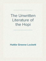 The Unwritten Literature of the Hopi