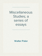 Miscellaneous Studies; a series of essays