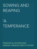 Sowing and Reaping A Temperance Story