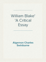 William Blake A Critical Essay
