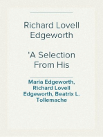 Richard Lovell Edgeworth A Selection From His Memoirs