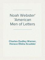 Noah Webster American Men of Letters