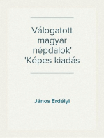 Válogatott magyar népdalok Képes kiadás