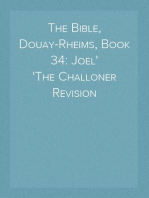 The Bible, Douay-Rheims, Book 34