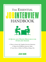 The Essential Job Interview Handbook