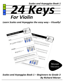 24 Keys: Scales and Arpeggios for Violin, Book 1