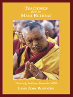 Teaching from the Mani Retreat