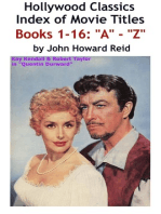 HOLLYWOOD CLASSICS Index of Movie Titles BOOKS 1-16