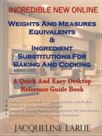 Incredible New Online Weights And Measures Equivalents & Ingredient Substitutions For Baking And Cooking A Quick And Easy Desktop Reference Guide Book For Your Kitchen
