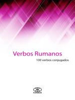 Verbos rumanos (100 verbos conjugados)