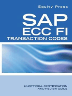 SAP ECC FI Transaction Codes: Unofficial Certification and Review Guide
