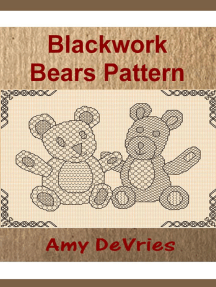 Blackwork Bears Pattern