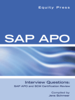 SAP APO Interview Questions, Answers, and Explanations