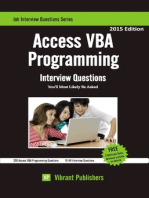 Access VBA Programming Interview Questions You'll Most Likely Be Asked