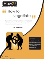 How to Negotiate