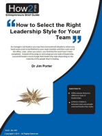 How to Select the Right Leadership Style for Your Team