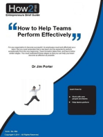 How to Help Teams Perform Effectively