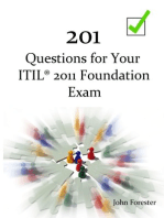 201 Questions for Your ITIL Foundation Exam