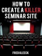 How to Create a Killer Seminar Website