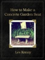 How to make a concrete garden seat
