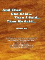 And Then God Said... Then I Said... Then He Said... Volume One