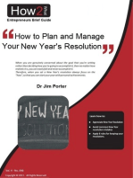 How to Plan and Manage Your New Year's Resolutions