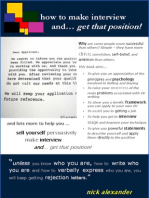 How to Make Interview and Get that Position!