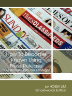 How to Become Known Using Press Release