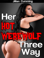 Her Hot Werewolf Three-Way (m/f/m Monster Sex)