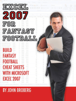 Excel 2007 for Fantasy Football