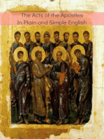 The Acts of the Apostles In Plain and Simple English