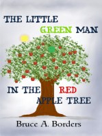 The Little Green Man In The Red Apple Tree