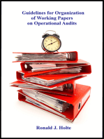 Guidelines for Organization of Working Papers on Operational Audits