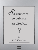 So you want to publish an ebook