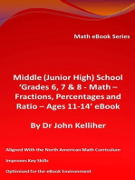Middle (Junior High) School 'Grades 6, 7 & 8 - Math – Fractions, Percentages and Ratio – Ages 11-14' eBook