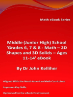 Middle (Junior High) School 'Grades 6, 7 & 8 - Math – 2D Shapes and 3D Solids – Ages 11-14' eBook