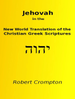 Jehovah in the New World Translation of the Christian Greek Scriptures