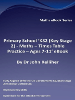 Primary School 'KS2 (Key Stage 2) - Maths – Times Table Practice - Ages 7-11' eBook
