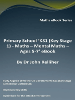 Primary School 'KS1 (Key Stage 1) Maths – Mental Maths – Ages 5-7' eBook