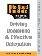Driving Decisions & Effective Delegation