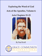 Exploring the Word of God Acts of the Apostles Volume 6