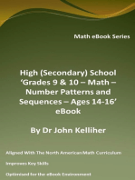 High (Secondary) School 'Grades 9 & 10 – Math – Number Patterns and Sequences – Ages 14-16' eBook